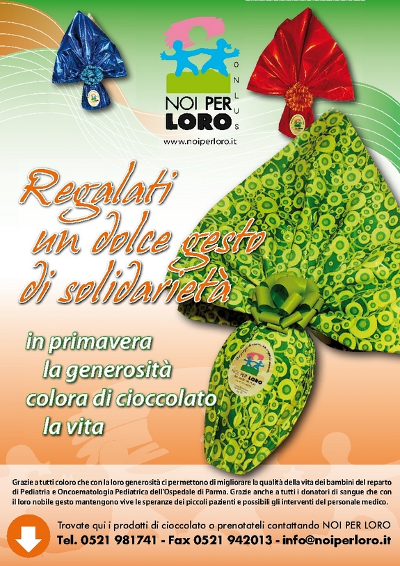 Campagna raccolta fondi solidale Pasqua 2013
