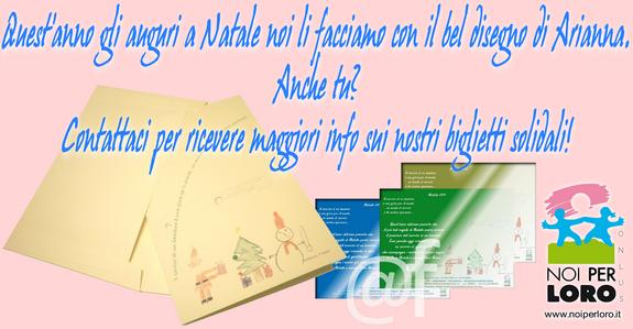 Biglietti solidali Noi per Loro onlus Natale 2013