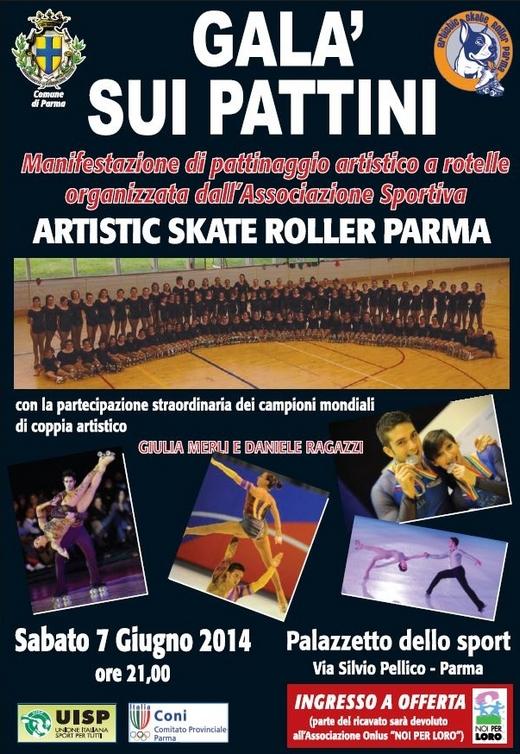 Galà sui pattini 2014 Artistic Skate Roller Parma