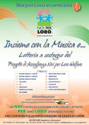 Insieme con la Musica e 2015 Lotteria solidale di Noi per Loro onlus Parma