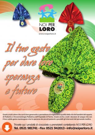 Locandina PASQUA SOLIDALE Noi per Loro onlus Parma