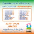 Numeri vincenti lotteria Noi per Loro Parma 2019