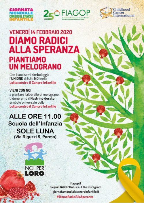 Giornata Mondiale Contro il Cancro Infantile a Parma