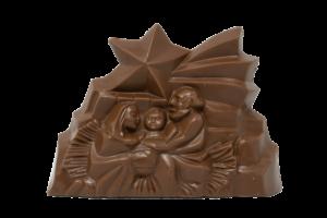 Presepe di cioccolato latte o fondente (350gr) Noi per Loro odv