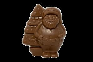 Babbo Natale di cioccolato latte o fondente (300gr). Prodotto da Dolcem sas. Senza glutine