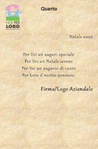 NATALE Testi Biglietti Solidali Noi per Loro onlus Parma - Testo Quarto
